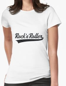 Rock 'n' Roller (Black) Womens Fitted T-Shirt
