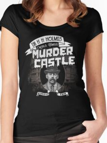 Dr. H. H. Holmes - Murder Castle Women's Fitted Scoop T-Shirt