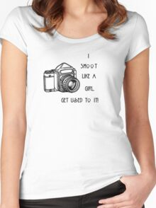 I SHOOT LIKE A GIRL...... Women's Fitted Scoop T-Shirt