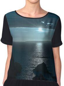 blue toned wild atlantic way sunset Chiffon Top