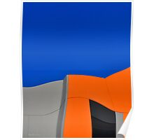Orange Pop Abstract by Gaye G Poster