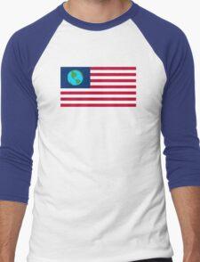 Futurama Earthican Flag Men's Baseball ¾ T-Shirt
