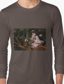 Mary Cassatt - A Woman and a Girl Driving 1881, American Impressionism  Long Sleeve T-Shirt
