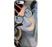 Who are you calling 4 eyes, 2011, 50-50cm, oil on canvas iPhone Case/Skin