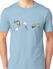 Calvin And Hobbes Fly Unisex T-Shirt
