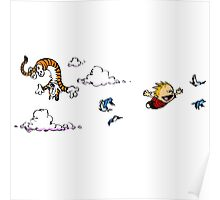 Calvin And Hobbes Fly Poster