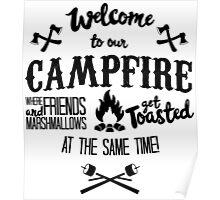 Marshmallows Campfire Humor Poster