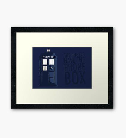 Blue Tardis Framed Print