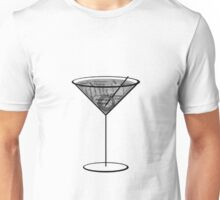 Martini cocktail typography Unisex T-Shirt