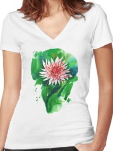 Gorgeous Dahlia Women's Fitted V-Neck T-Shirt