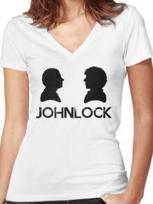 Johnlock Women's Fitted V-Neck T-Shirt