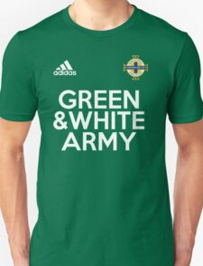 Green and White Army  Unisex T-Shirt