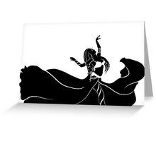 the dancing woman Greeting Card