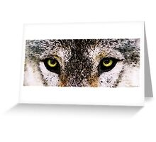 Wolf Eyes Greeting Card