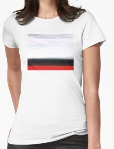 White Horizon - Abstract Red And Black Landscape Art Womens Fitted T-Shirt