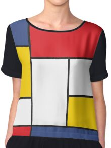 In the Style of Mondrian Chiffon Top