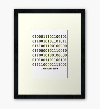 Geeks are Sexy - Binary Framed Print