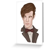 Doctor WHO 11 Eleventh Doctor Greeting Card