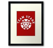 Team Stark - new reactor Framed Print
