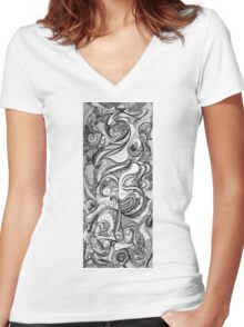 The Jester, 2015, 20-50cm, ink on paper Women's Fitted V-Neck T-Shirt
