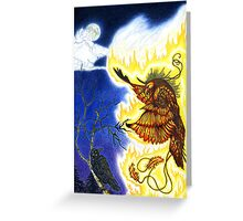The Raven and The Phoenix Greeting Card