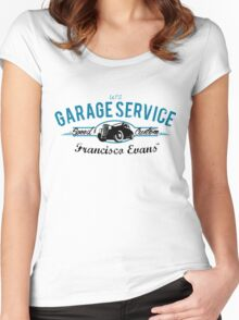 Garage Service Oldtimer by Francisco Evans ™ Women's Fitted Scoop T-Shirt