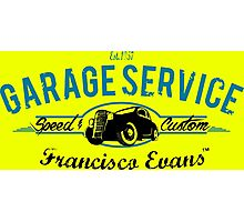 Garage Service Oldtimer by Francisco Evans ™ Photographic Print