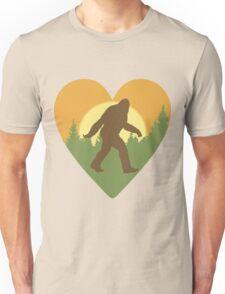 Bigfoot Heart Unisex T-Shirt