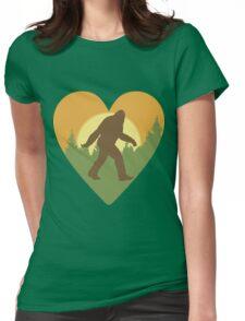 Bigfoot Heart Womens Fitted T-Shirt