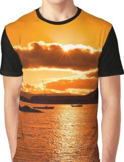 boats in a quiet bay at sunset Graphic T-Shirt