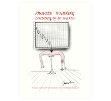 profits warning !, tony fernandes Art Print