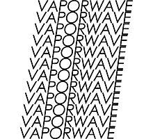 Multi VAPORWAVE Black Letters Photographic Print