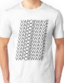 Multi VAPORWAVE Black Letters Unisex T-Shirt