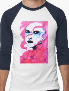 Watercolour woman Men's Baseball ¾ T-Shirt