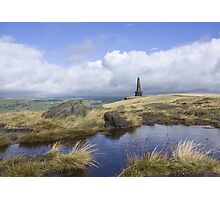 Stoodley Pike From The Pennine Way Photographic Print