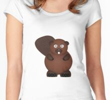 Beaver Women's Fitted Scoop T-Shirt