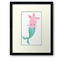 Mermaid Pig Framed Print