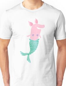 Mermaid Pig Unisex T-Shirt