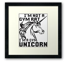 Gym Unicorn Framed Print