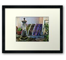 Colored folding chairs Framed Print