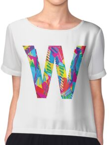 Fun Letter - W Chiffon Top