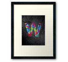 Fun Letter - W Framed Print