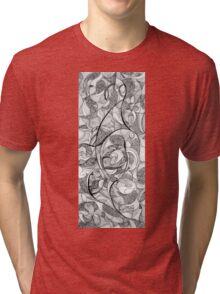 Playing memories, 2015, 20-50cm, ink on paper Tri-blend T-Shirt