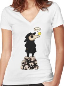 Plague Doctor Women's Fitted V-Neck T-Shirt