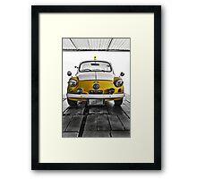 FIAT 600D - 1963 Yellow Framed Print