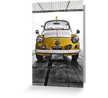 FIAT 600D - 1963 Yellow Greeting Card
