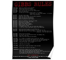 TV Show: NCIS (Gibbs Rules) Poster