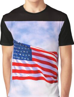 Mystic Memorial Day Flag Graphic T-Shirt