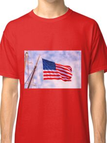 Mystic Memorial Day Flag Classic T-Shirt