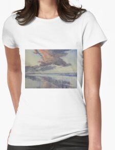 Flamborough Head from Fraisthorpe Beach Womens Fitted T-Shirt